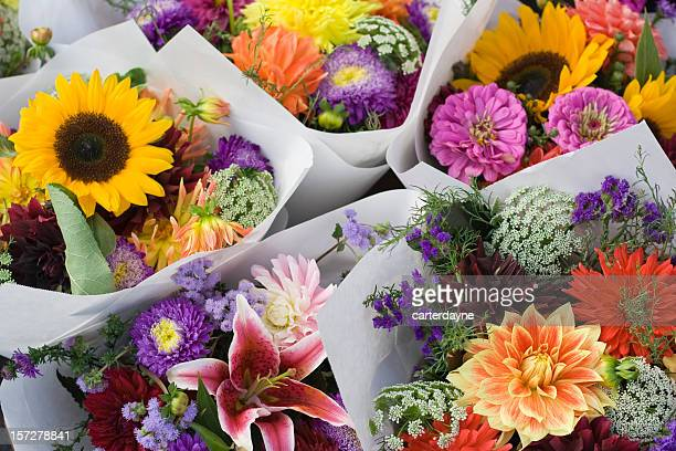Agricoltori freschi bouquet di fiori colorati