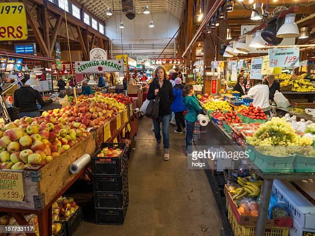 Farmers market auf Granville island, Vancouver, Kanada