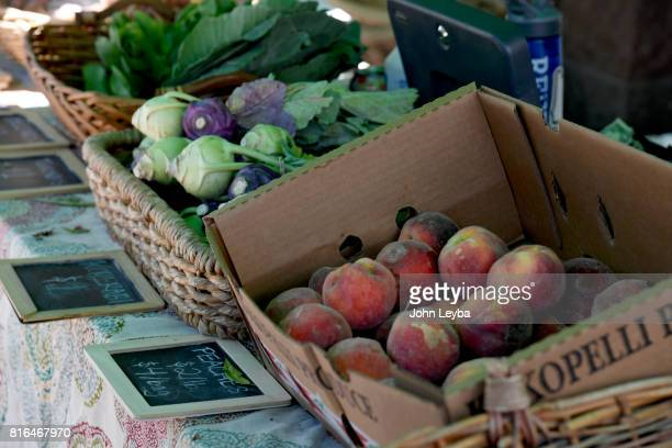Farmer's market opened at the DHS Richard T Castro Building on July 17 2017 in Denver The farmfresh products are grown at the Denver botanic Gardens...