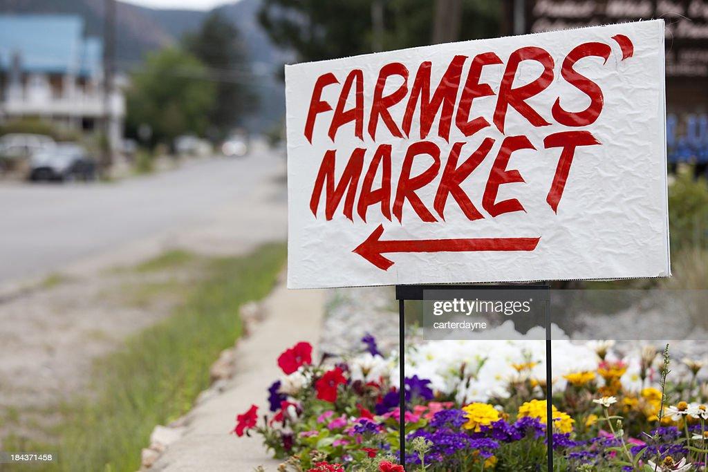 'Farmers Market Sign, Colorado'