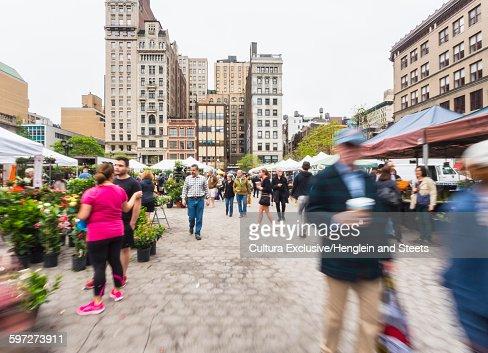 Farmers market, Union Square, New York City, New York, USA