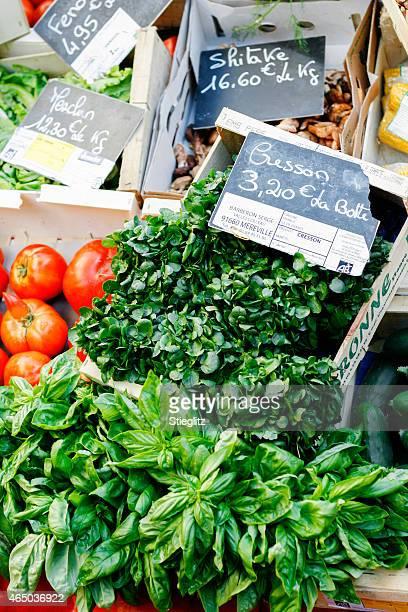 Marché fermier de légumes