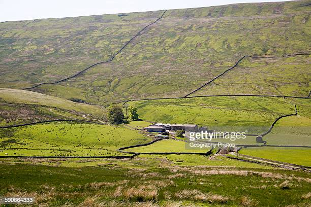 Farmhouse at Duerley Bottom Sleddale Yorkshire Dales national park England UK