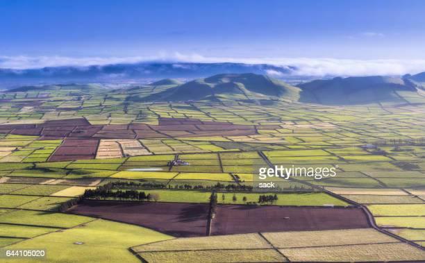 Farmland and landscape on Terceira Island, Azores