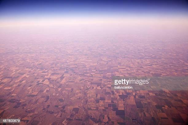 Farmland as far as the eye can see