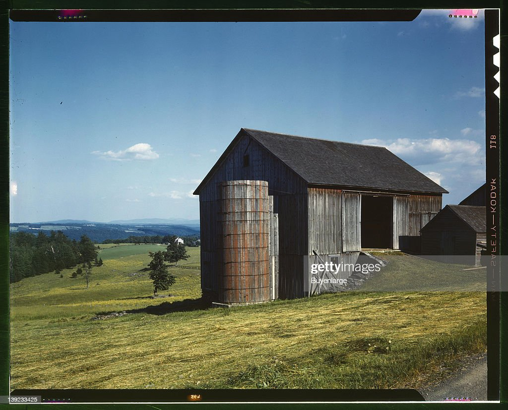 Farmland in the Catskill country in New York State 1943