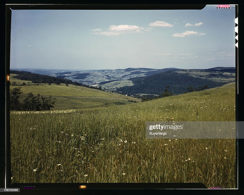 Farmland in the Catskill Mountains Richmondsville New York 1943