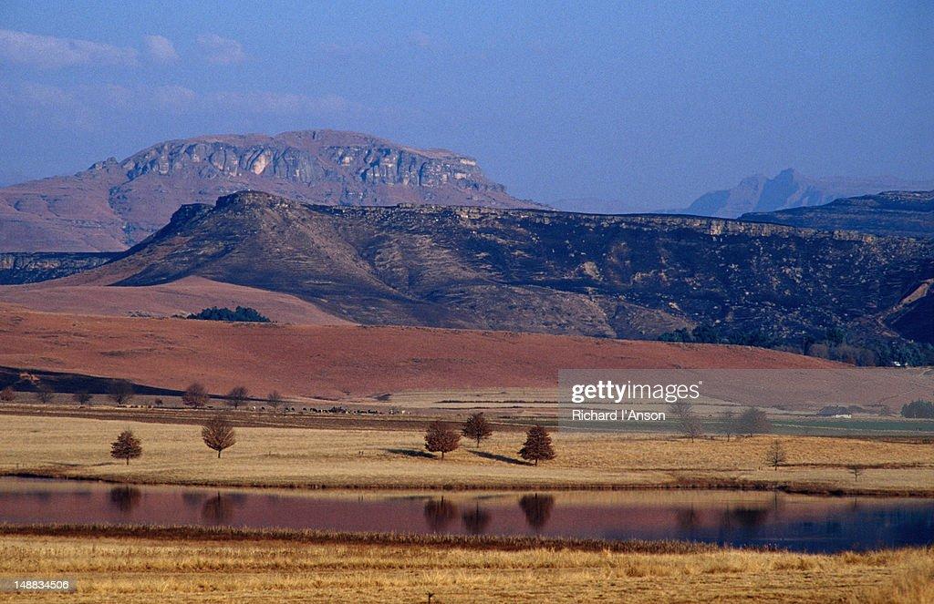 Farmland in the Southern Drakensberg Range