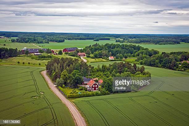 Bauernhöfe und Feldern in Schweden Nord Europa