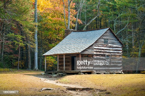 Farmstead, Cades Cove, Great Smoky Mountains, Gatlinburg, Tennessee, USA