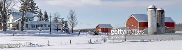 Farmstead Panorama invernale in anticipo