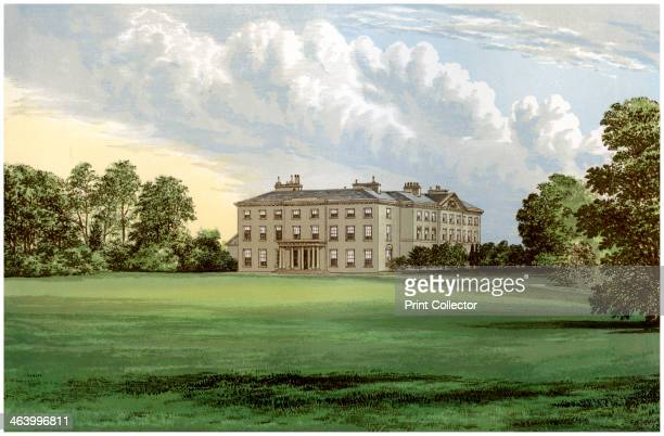 Farnham Lodge County Cavan Ireland home of Lord Farnham c1880 A print from A Series of Picturesque Views of Seats of the Noblemen and Gentlemen of...