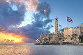 Faro Castillo del Morro is a lighthouse located in Havana, Cuba. It was built in 1845 on the ramparts of the Castillo de los Tres Reyes Magos del Morro, an old fortress guarding the harbor of Havana.