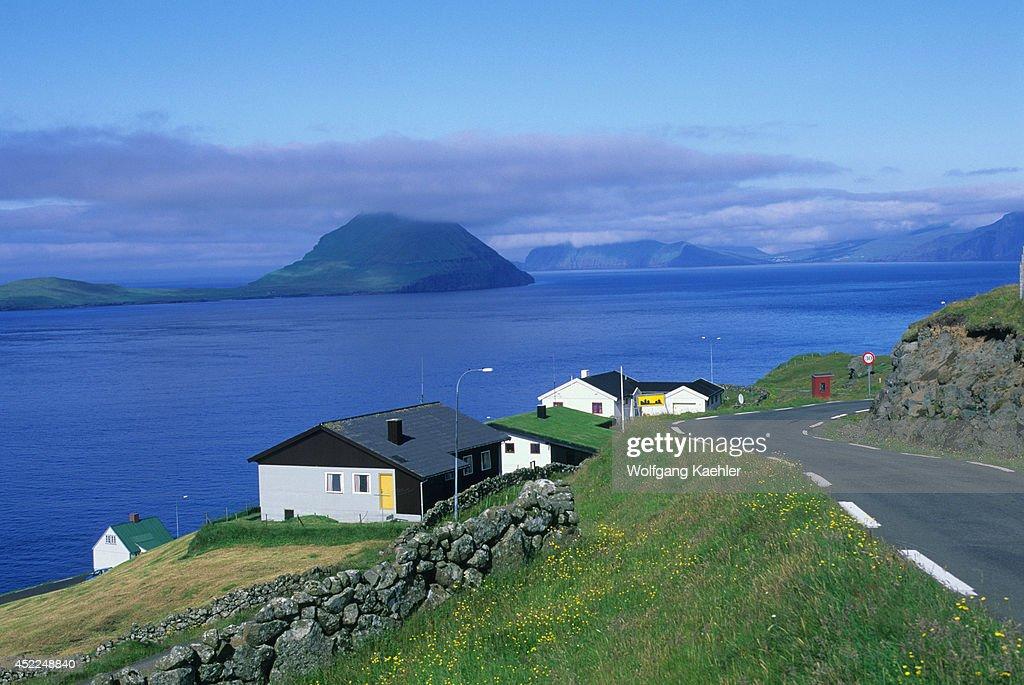 Faroe Islands Near Torshavn Farm Houses