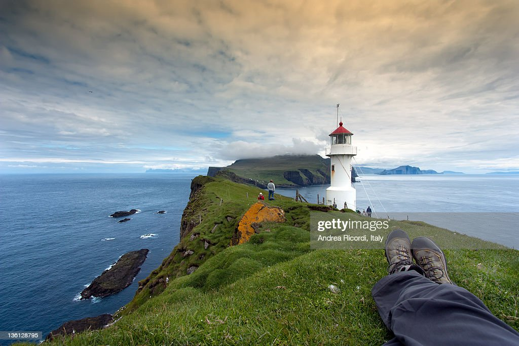 Faroe - resting at mykines lightouse