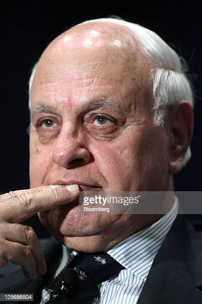 Farooq Abdullah India's minister of new and renewable energy listens at the US India Economic Opportunities and Synergies Summit in Chicago Illinois...
