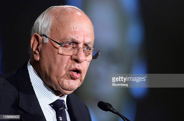 Farooq Abdullah India's minister of new and renewable energy speaks at the US India Economic Opportunities and Synergies Summit in Chicago Illinois...