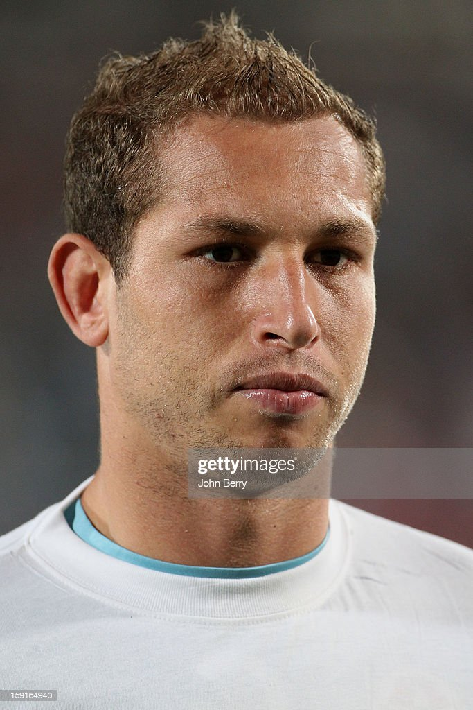 Farouk Ben Mustapha, goalkeeper of Tunisia looks on before the international friendly game between Tunisia and Ethiopia at the Al Wakrah Stadium on January 7, 2013 in Doha, Qatar.