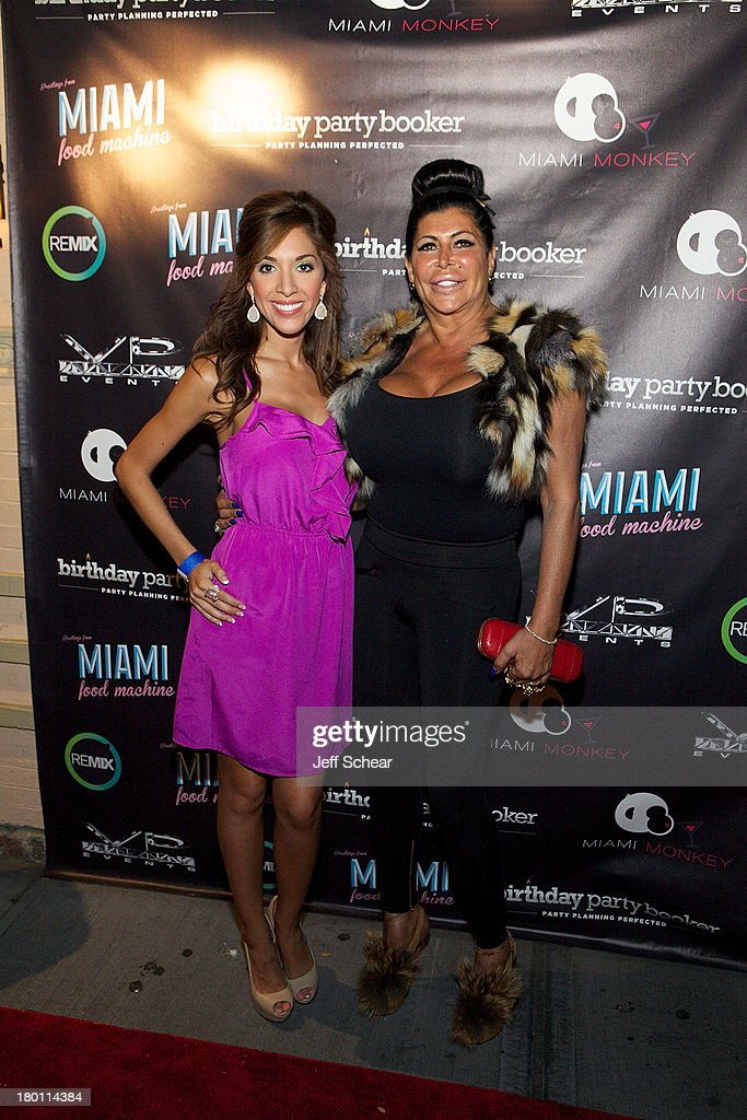 Farrah Abraham and Angela 'Big Ang' Raiola attend the MIAMI MONKEY Premiere Party Presented By JustJenn Productions And The Weinstein Company at 49 Grove on September 8, 2013 in New York City.