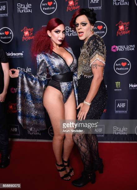 Farrah Abraham and Sham Ibrahim at Los Angeles Fashion Week SS18 Art Hearts Fashion LAFW on October 7 2017 in Los Angeles California