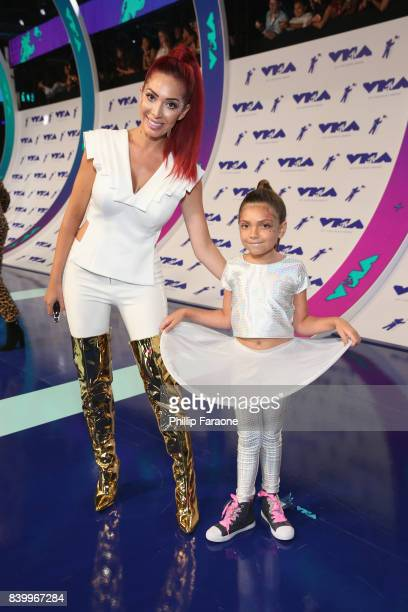 Farrah Abraham and Sophia Laurent Abraham attend the 2017 MTV Video Music Awards at The Forum on August 27 2017 in Inglewood California