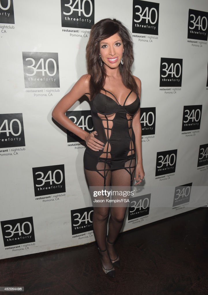 <a gi-track='captionPersonalityLinkClicked' href=/galleries/search?phrase=Farrah+Abraham&family=editorial&specificpeople=6927722 ng-click='$event.stopPropagation()'>Farrah Abraham</a> attends the launch party for her new intimate line at 340 Restaurant & Nightclub on July 11, 2014 in Pomona, California.