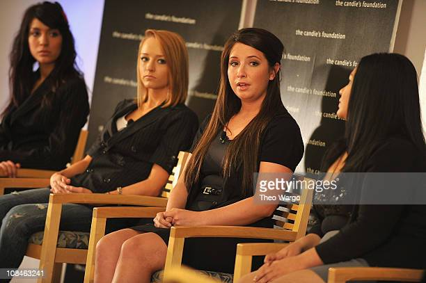 Farrah Abraham Maci Bookout and Bristol Palin speak during ' The Harsh Truth Teen Moms Tell All' Town Hall Meeting sposored by The Candie's...
