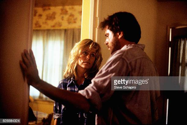 Farrah Fawcett and Paul Le Mat in a scene from the film The Burning Bed