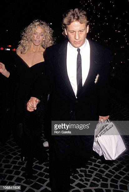 Farrah Fawcett and Ryan O'Neal during Farrah Fawcett and Ryan O'Neal Sighting at Beverly Wilshire Hotel January 12 1987 at Beverly Wilshire Hotel in...