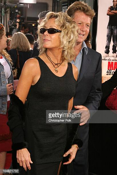 Farrah Fawcett and Ryan O'Neal during 'Malibu's Most Wanted' Premiere at Graumans Chinese Theater in Hollywood CA United States
