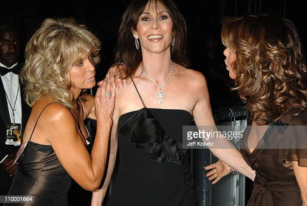 Farrah Fawcett Kate Jackson and Jaclyn Smith during 58th Annual Primetime Emmy Awards Backstage at The Shrine Auditorium in Los Angeles California...
