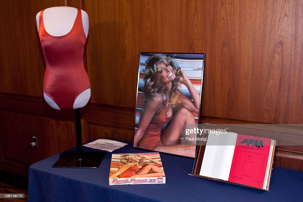 Farrah Fawcett memorabilia included in a donation ceremony at the Smithsonian National Museum Of American History on February 2, 2011 in Washington, DC. Fawcett died of cancer June 25, 2009.