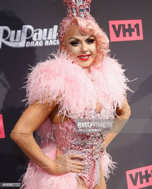 Farrah Moan attends'RuPaul's Drag Race' season 9 premiere party meet The Queens Event at PlayStation Theater on March 7 2017 in New York City