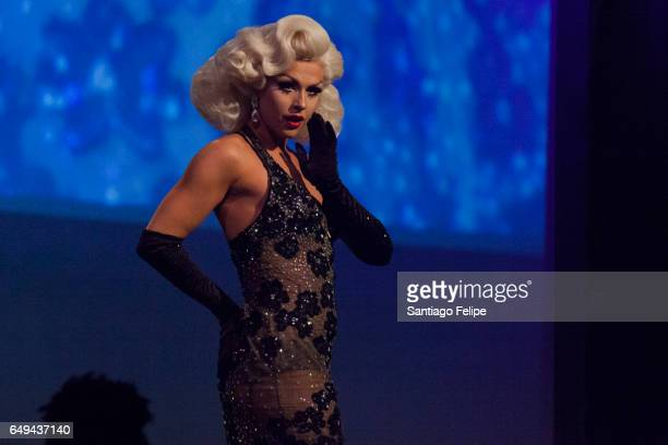 Farrah Moan performs onstage during 'RuPaul's Drag Race' Season 9 Premiere Party Meet The Queens Event at PlayStation Theater on March 7 2017 in New...