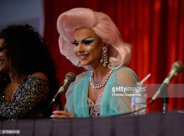 Farrah Moan speaks onstage at 3rd Annual RuPaul's DragCon day 2 at Los Angeles Convention Center on April 30 2017 in Los Angeles California