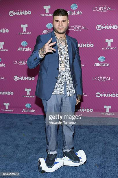 Farruko arrives at Telemundo's 'Premios Tu Mundo Awards' at American Airlines Arena on August 20 2015 in Miami Florida