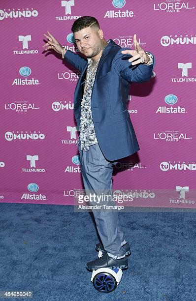 Farruko arrives at Telemundo's 'Premios Tu Mundo Awards' at American Airlines Arena on August 20 2015 in Miami Florida