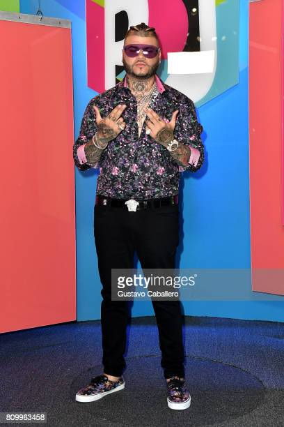 Farruko attends the Univision's 'Premios Juventud' 2017 Celebrates The Hottest Musical Artists And Young Latinos ChangeMakers at Watsco Center on...