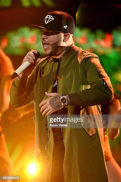 Farruko performs onstage during Telemundo's Latin American Music Awards at the Dolby Theatre on October 8 2015 in Hollywood California