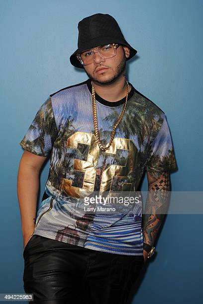Farruko visits Mega 949 radio station on May 28 2014 in Miami Florida