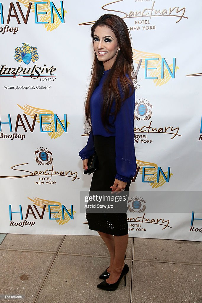 Faryal Makhdoom attends Amir Khan & Faryal Makhdoom's Welcome To New York Party at Haven Rooftop at Sanctuary Hotel on July 8, 2013 in New York City.