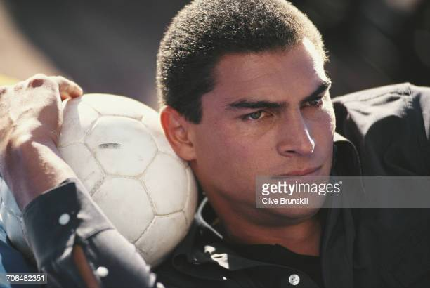 Faryd Mondragon of Colombia poses for a portrait for soft drinks manufacturer PepsiCola on 23 December 1999 in Seville Spain