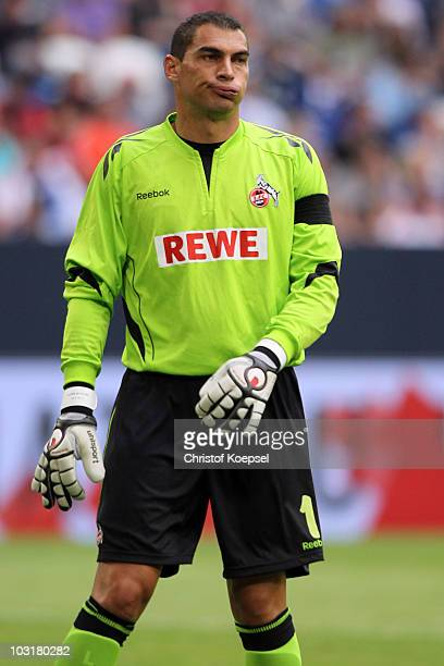 Faryd Mondragon of Koeln looks dejected during the LIGA total Cup 2010 match between Bayern Muenchen and 1 FC Koeln at the Veltins Arena on July 31...