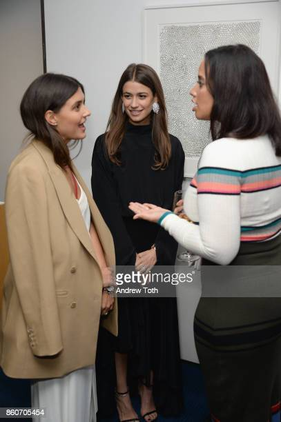Faryn Weiner Amanda Alagem and Dascha Polanco attend as Harper's BAZAAR and THE OUTNETCOM Celebrate the opening of MoMA's Fashion Exhibit 'Is Fashion...
