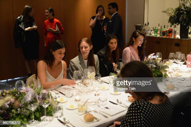 Faryn Weiner Mallory Schlau Marina Testino and Jessica Wang attend as Harper's BAZAAR and THE OUTNETCOM Celebrate the opening of MoMA's Fashion...