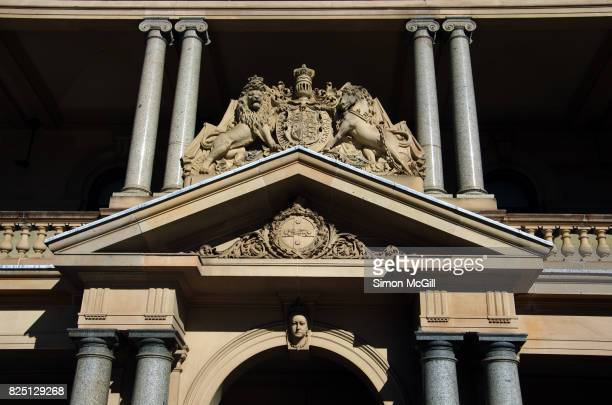 Fascade above the main entrance to Customs House, Circular Quay, Sydney, New South Wales, Australia