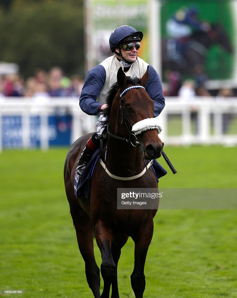 Fascinating Rock and Pat Smullen return after winning The QIPCO Champion Stakes during the QIPCO British Champions Day at Ascot Racecourse on October 17, 2015 in Ascot, England.