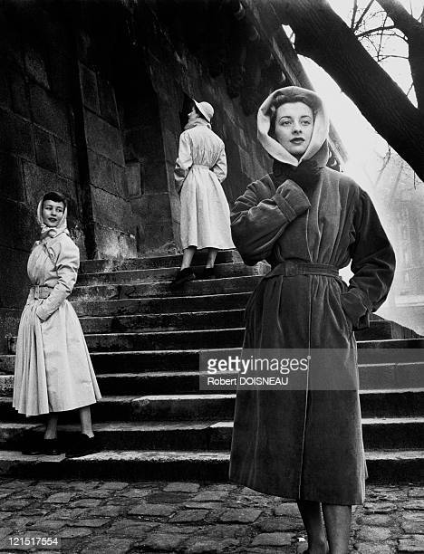 Fashion And Models Outside In A Cold Day Paris France March 1940