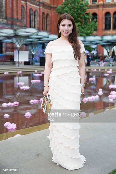 Fashion and technology investor Wendy Yu attends the VA Summer Party at Victoria and Albert Museum on June 22 2016 in London England