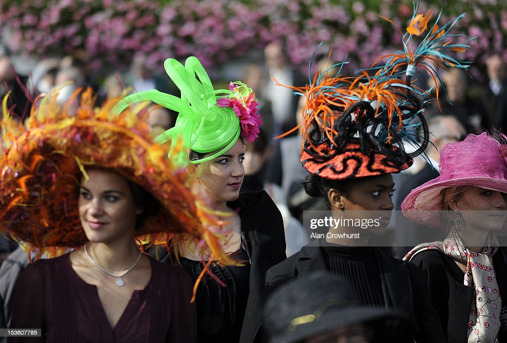 Fashion at Longchamp racecourse on October 07, 2012 in Paris, France.